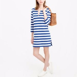 J. Crew Striped Small Beach Tunic Dress Blue Ivory